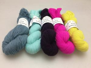 10 skeins of assorted colors