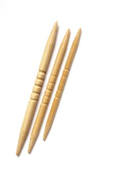 Cable needle, white bamboo. In stock