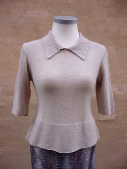 Gepard Sweater with moss-stitch edges