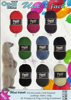 Opal Sock yarn UNI X-Large, 8 ply