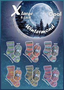 Opal Sock yarn X-Large Winterzauber, 8 thread