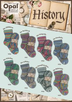 Opal Sock yarn History - 4-ply