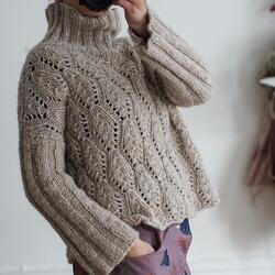 Gepard sweater in Italian lace D
