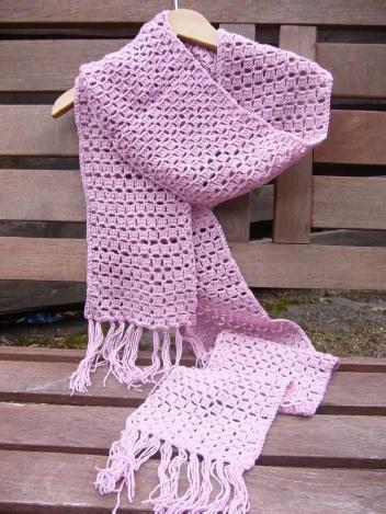5532f11f746 Gepard Hæklet tørklæde i mosaikmønster - Gep.Tb-10-13G - Fra ...