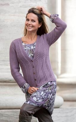 Gepard Cabled cardigan
