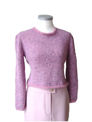 Gepard Nipped waist sweater with mohair edges