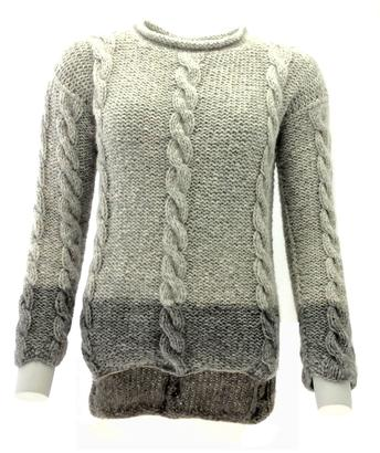 Gepard 2-colored Tri-Cable Sweater
