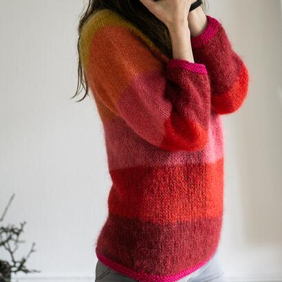 Gepard Idun – striped mohair sweater