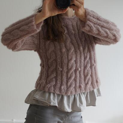 Gepard Cropped Mohair Sweater D