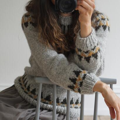 Gepard sweater with Icelandic yoke  D