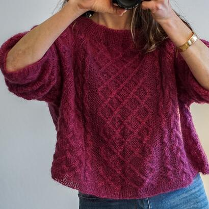 Gepard raglan sweater with cables D