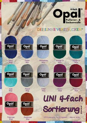 Opal Sock Yarn UNI Assortment 2020 - 4-ply